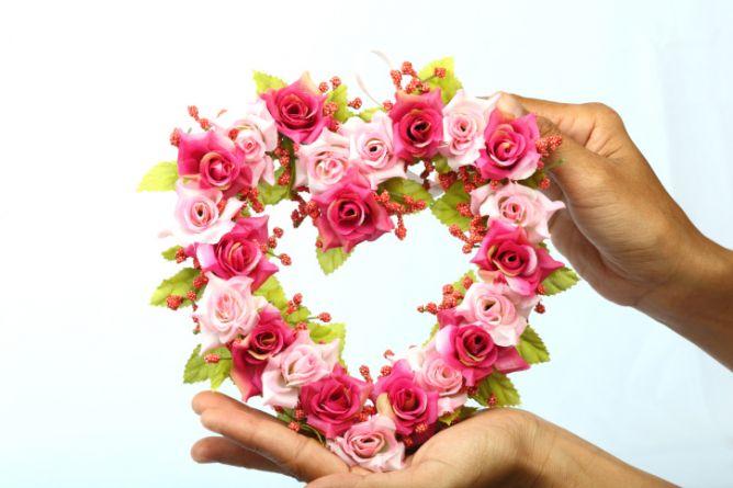 corazones de flores - 1