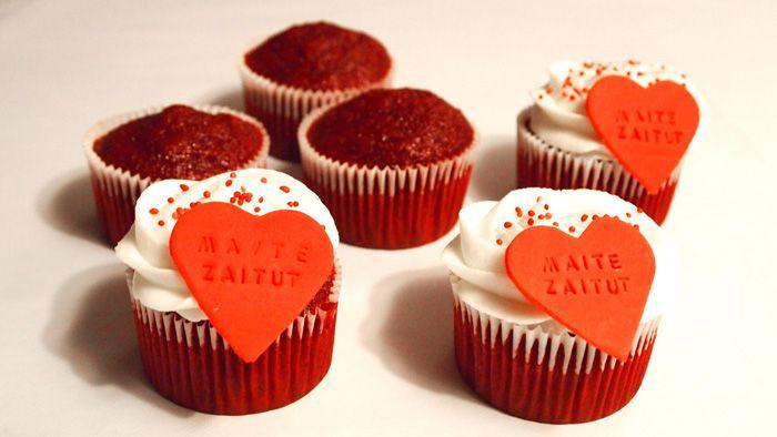 Decoración de cupcakes Red Velvet - paso 2