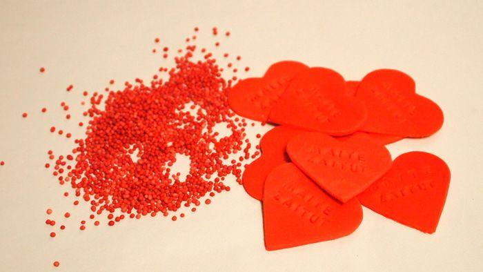 Decoración de cupcakes Red Velvet - paso 1