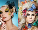 Maquillaje look mariposa carnavales