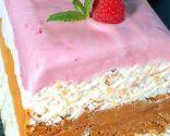 Tarta helada o Soufflé arco iris