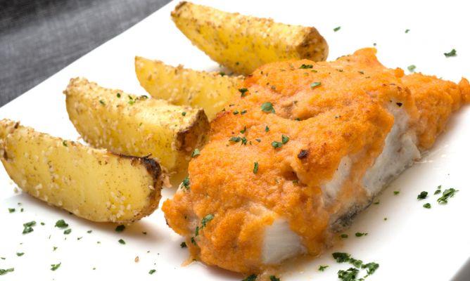 Receta de bacalao fresco con gajos de patata karlos - Bacalao con garbanzos y patatas ...