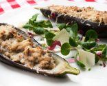 Berenjenas rellenas con ensalada de endibias