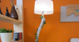C mo hacer una l mpara con un bote de cristal bricoman a - Como hacer una lampara de pie artesanal ...