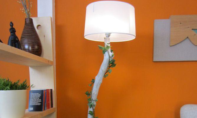 Tronco l mpara bricoman a - Como hacer una lampara de pie artesanal ...