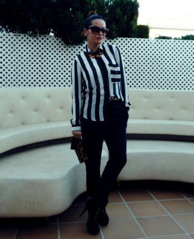 pantalón negro básico - look 1