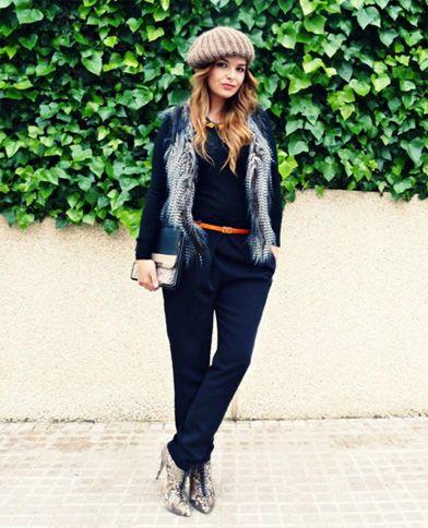 pantalón negro básico - look 2
