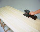 Mantenimiento de encimera con aceite para madera paso 1