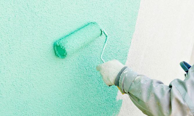 C mo pintar una fachada rugosa bricoman a - Como pintar una pared con textura ...