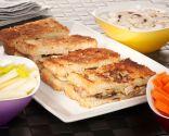 Sandwich y dip de champiñones con gorgonzola
