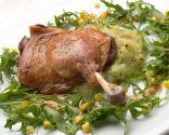 Confit de pato con ensalada de calabacín
