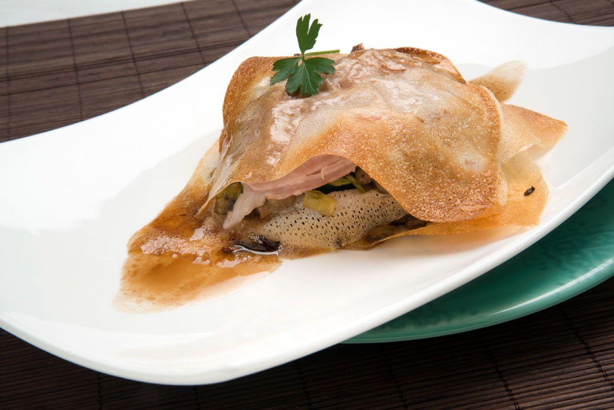 Las mejores recetas de calabacín de Karlos Arguiñano - Milhojas de calabacín y champiñones
