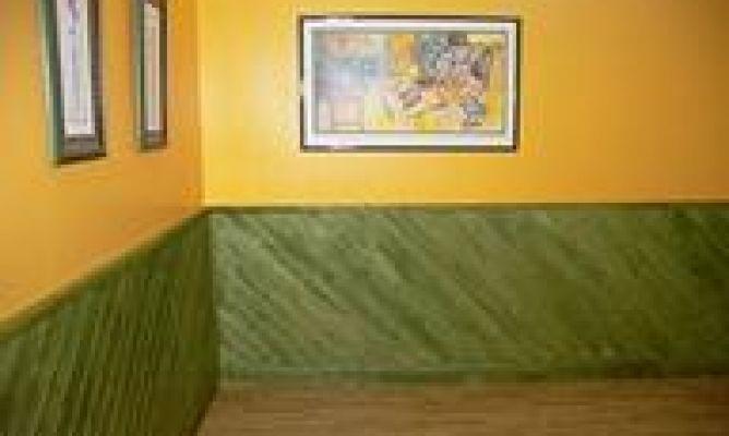 Pintar un friso de madera bricoman a for Friso madera pared