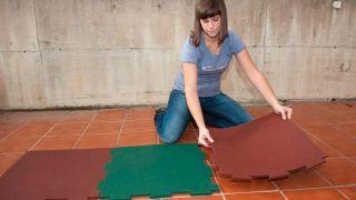 Instalar suelo de caucho granulado - Paso 6