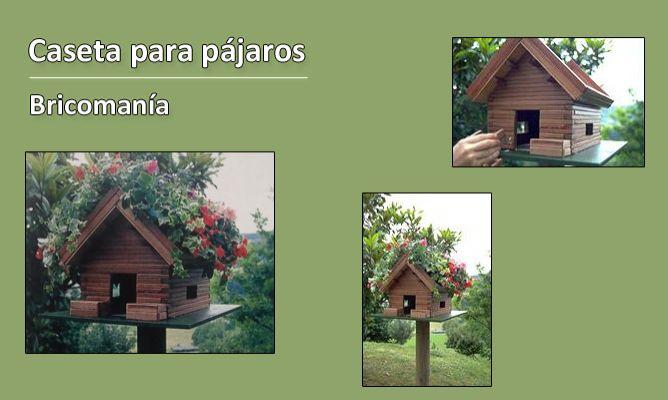 Caseta para pajaros bricoman a - Como hacer una caseta de jardin ...