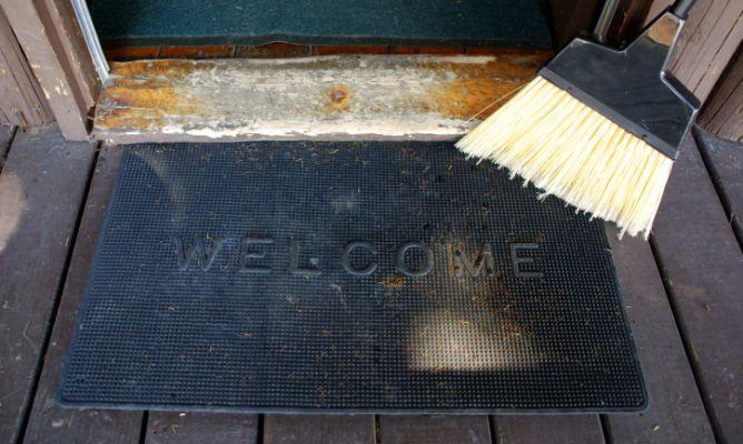 Limpiar el felpudo de casa hogarmania - Felpudo entrada casa ...