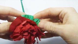 Cómo hacer flores de papel sencillas y bonitas - Paso 5