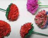 Ramo flores papel paso 6