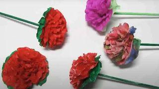 Cómo hacer flores de papel sencillas y bonitas - Paso 6