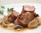 Solomillo de cerdo con champiñones en salsa