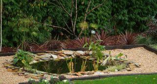 Estanque construido sobre pavimento hogarmania for Como hacer un estanque artificial