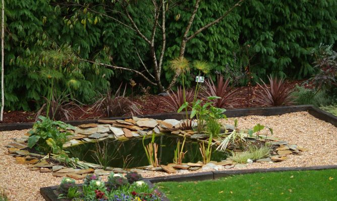 C mo hacer un estanque para el jard n bricoman a - Estanques para jardin ...