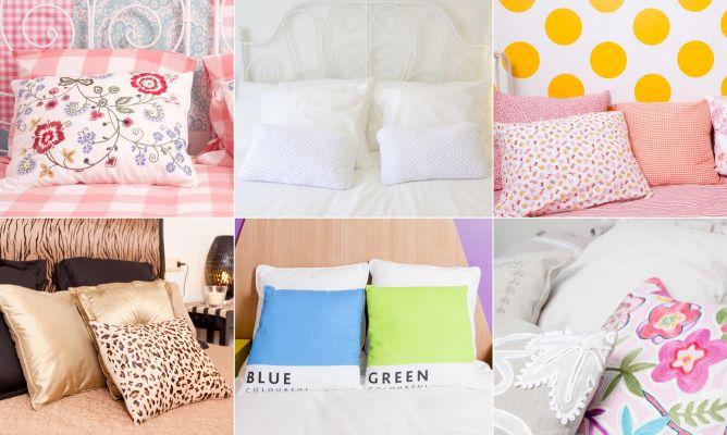 Cojines para decorar el dormitorio hogarmania - Decorar cojines ...