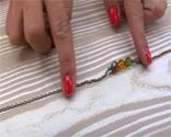 Collar vintage abalorios retro 1