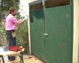 Solución decorativa para puerta de exterior