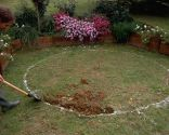 Solera circular de hormigón
