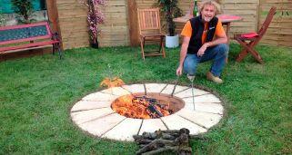 Hacer una barbacoa circular de exterior bricoman a for Como encender una barbacoa