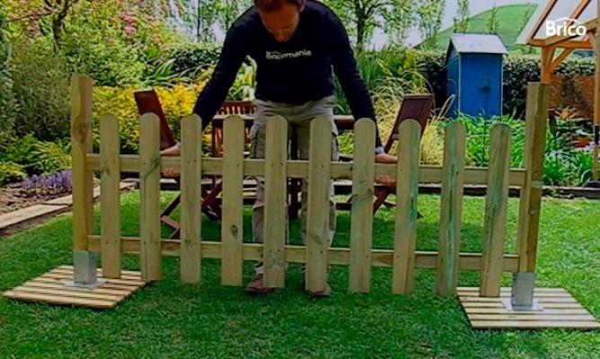 instalar valla de madera bricomana - Vallas Madera Jardin