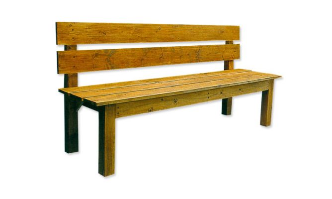 C mo hacer un banco r stico bricoman a - Bancos de jardin de madera ...