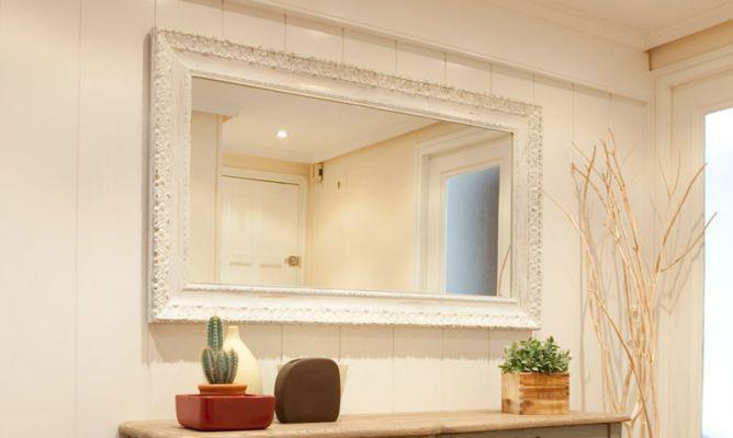 espejos marco plateado