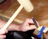 Cabecero de forja y madera