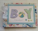 Álbum de scrapbooking para un bebé