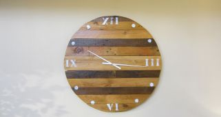 Reloj r�stico de pared