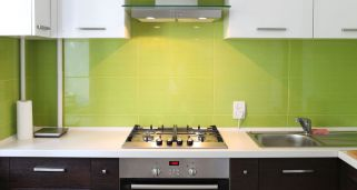 Decorar una cocina en color verde
