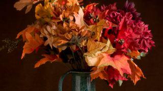 Hojas secas para decorar jarrones