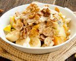Muesli con plátano y yogur