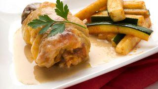 receta de muslos de pollo rellenos de calabacín