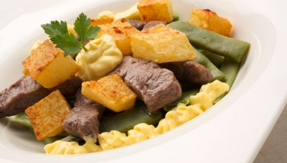 Receta de jud as verdes con sofrito de tomate karlos - Ensalada de judias verdes arguinano ...