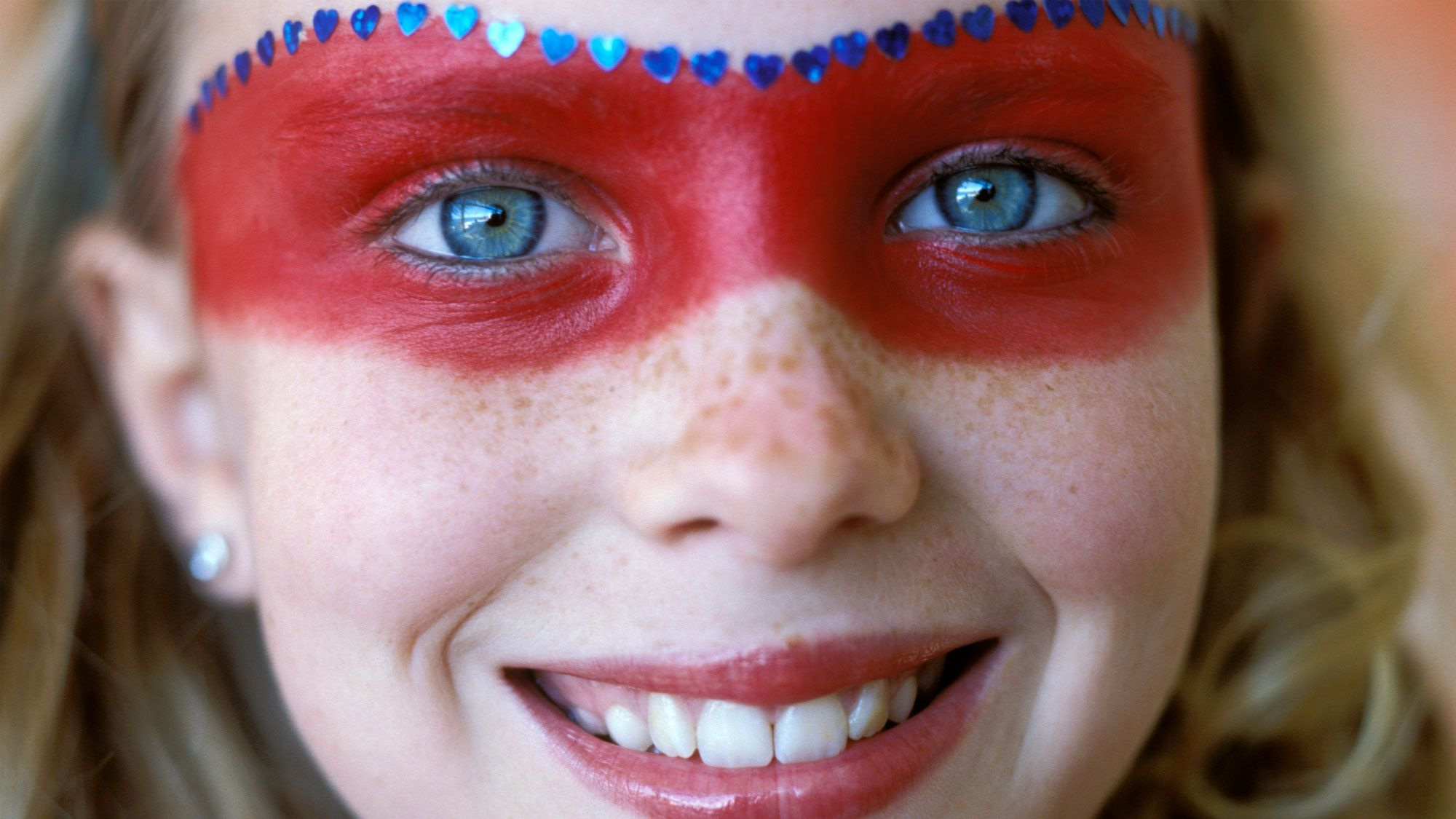 maquillaje halloween super heroe