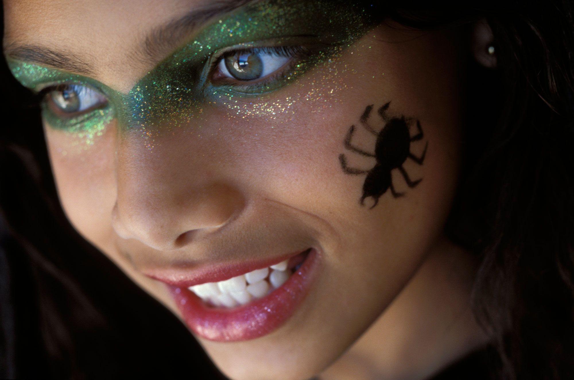 maquillaje halloween araña