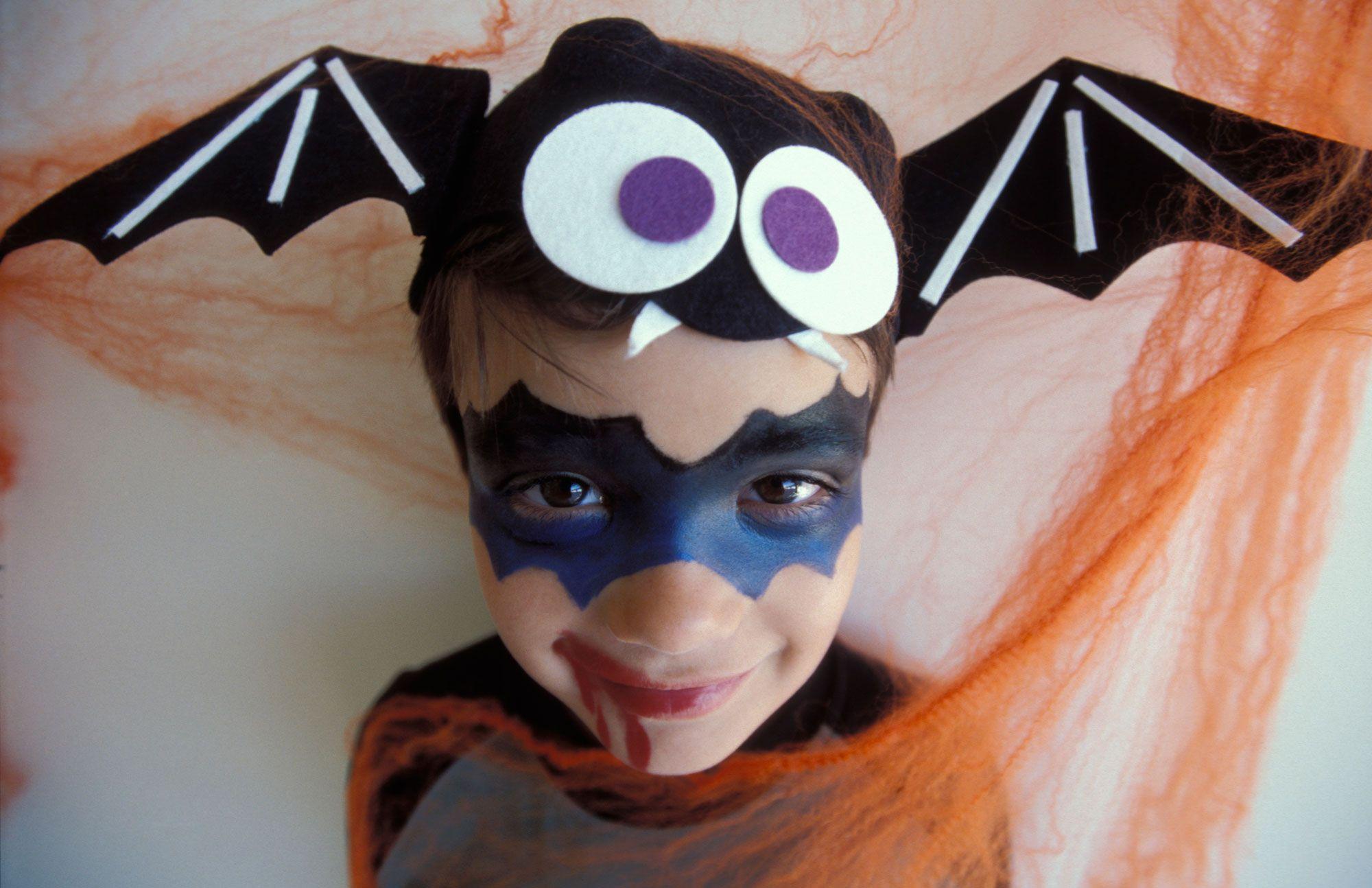 maquillaje halloween murciélago