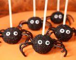 Cake pops o piruletas de arañas