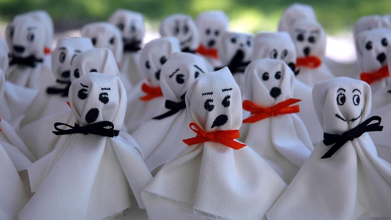 Fantasmas de tela para decorar