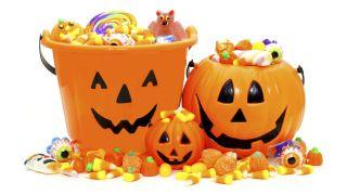 Zona para niños en una fiesta de Halloween