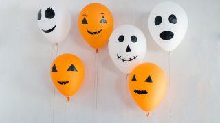 Globos para una fiesta de Halloween