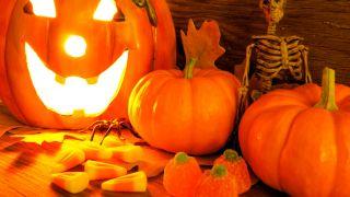 Calabazas para una fiesta de Halloween